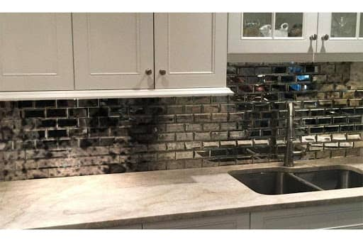 Antique mirrors for kitchen backsplash