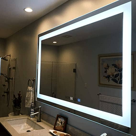 LED Mirror for the Vanity Room