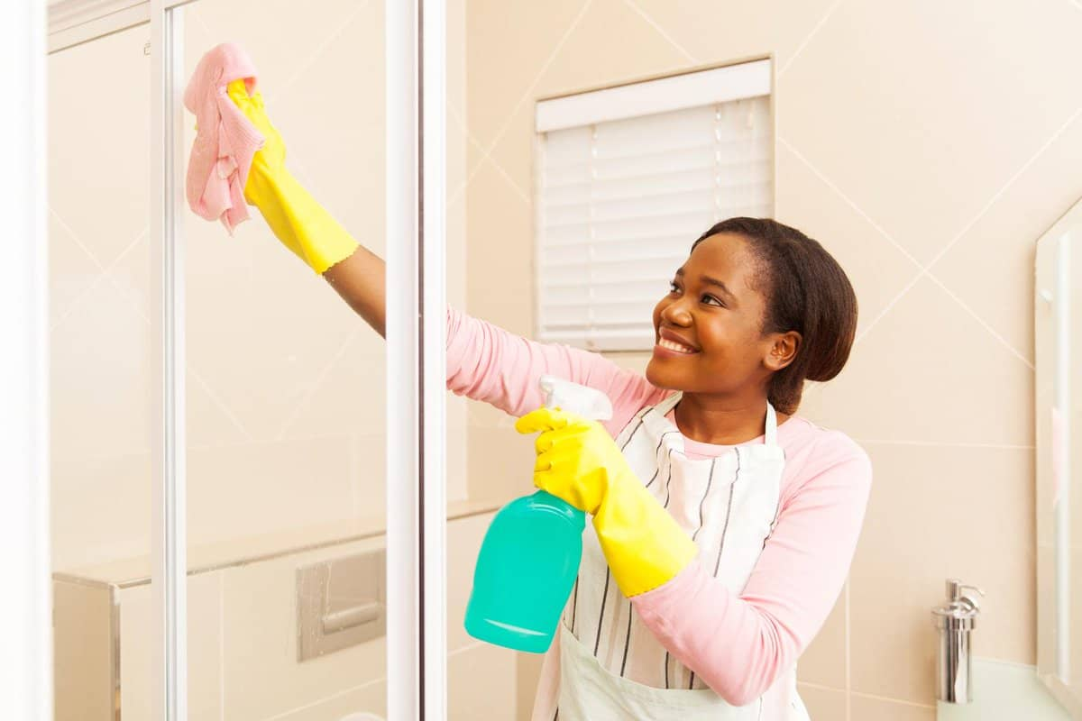 Cleaning sliding shower doors is easy